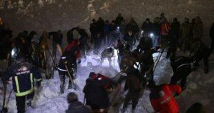 در اثر سقوط بهمن در ترکیه حداقل ۳۳ نفر از جمله نیروهای امنیتی و امدادی جان باخته و در این بین ۵۳ نفر دیگر نیز مصدوم شدند
