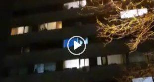 امشب تعدادی از اهالی شهرک اکباتان در تهران با آواز دسته جمعی و خواندن سرود ای ایران سعی در ایجاد روحیه مثبت برای مقابله با بیماری کرونا کردند