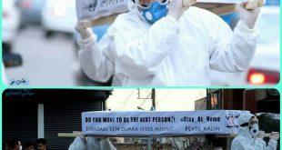امروز در شهر میانه یک تابوت نمادین را برای توجه مردم به خطرات بیماری کرونا و لزوم توجه به این بیماری در شهر چرخاندند