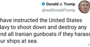 بعد از بالا گرفتن سطح تنش ها بر اثر حضور نیروهای آمریکایی در خلیج فارس احتمال رویارویی نیروهای دریایی آمریکا که با نیروهای امنیتی سپاه پاسداران که وظیفه حفاظت از امنیت این خلیج را بر عهده دارند بالا گرفته است