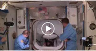 فیلم لحظه ورود تاریخی این دو فضانورد که با یک سفینه خصوصی به ایستگاه فضایی منتقل شدند بازتاب گسترده ای داشته است