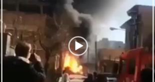 بر اثر آتش سوزی در یک مغازه شارژ کپسول در مشکین آباد کرج انفجار مهیبی رخ داده است و نیروهای آتش نشانی به محل حادثه اعزام شده اند