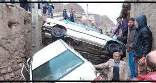 وقوع بارش های باران و ریزش تگرگ باعث ایجاد سیلی هولناک در روستای دیزادیز شهر قوچان گردید