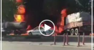 متاسفانه بر اثر وقوع این حادثه گازوئیل کشنده حامل سوخت آتش گرفت و بر اثر شدت آتش سوزی راننده کامیون بر اثر جراحت وارد شده و سوختگی شدید جان باخت