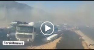 آتش زدن مزارع و دود ناشی از آن باعث ایجاد یک تصادف زنجیرهای در بین ۱۱ خودرو در جاده اصفهان شیراز شد