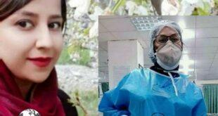 """کیانا نخعی"""" از کادر درمان بیمارستان شهرستان جیرفت بامداد امروز در راه سلامت و دفاع از سلامتی مردم، بر اثر کرونا جان خود را از دست داد."""