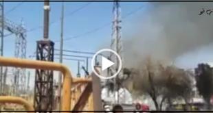 آتش سوزی در یکی از ترانسفورماتورهای نیروگاه برق زرگان اهواز باعث از مدار خارج شدن بخشی برق مشترکان شهر اهواز شد