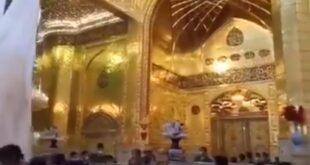همزمان با عید غدیر خم برای اولین بار ایوان طلای حرم مطهر حضرت عباس علیه السلام بر روی زائرین و شیفتگان آن حضرت بازگشایی شد