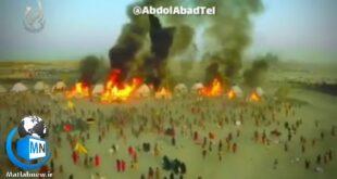 در یک پروژه فیلمبرداری که توسط هنرمندان عراقی به انجام رسید صحنه هایی واقعی از وقایع و ماجرای روز عاشورا به تصویر کشیده شد