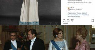 موسسه حراج (هرمان هیستوریکا) در آلمان با قرار دادن تصویری از لباس ابریشمی فرح پهلوی در صفحه اینستاگرام خود مدعی حراجی لباس در مونیخ آلمان گردید