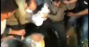 شب گذشته مراسم خاکسپاری نوید افکاری در روستای سنگر از توابع همایجان شهرستان سپیدان استان فارس برگزار گردید
