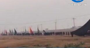 ویدیویی از حرکت مواکب اربعینی به سمت مرز شلمچه و کشور عراق در فضای مجازی منتشر شد،این در حالی است که حرکت مواکب اربعین امسال به علت شیوع کرونا به سمت کشور عراق ممنوع اعلام شده بود