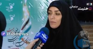 الهام چرخنده در حاشیه جشنواره بینالمللی فیلم مقاومت در گفتگو با خبرنگار صدا و سیما درباره موضوع مهاجرتش به کشور عراق صحبت کرد
