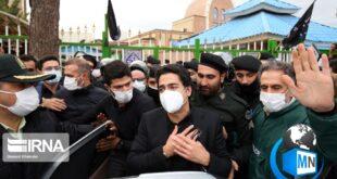 مراسم خاکسپاری استاد محمدرضا شجریان با حضور انبوهی از دوستداران و خانواده او در کنار آرامگاه فردوسی در توس برگزار گردید