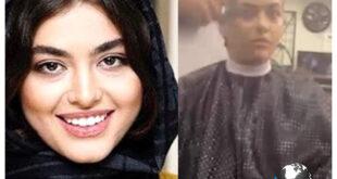فیلم منتشر شده از ریحانه پارسا در زمان کوتاه کردن موهایش در آرایشگاه توسط یک مرد نامحرم جنجالی جدید برای این بازیگر ایجاد کرد