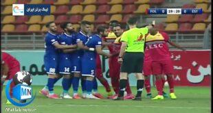 در جریان بازی امروز عصر بین تیم های استقلال و فولاد خوزستان گزارشگر مسابقه با یک اظهار نظر عجیب حاشیه ساز شد