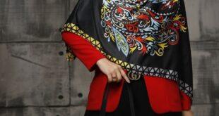 یکی از انتخاب های خانم های شیک پوش برای پاییز ست کیف و روسری قواره بزرگ می باشد