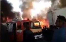 بر اساس خبر منتشر شده یک باربری در حوالی خیابان شوش نزدیک ایستگاه مترو دچار حریق و آتش سوزی گسترده شده است و بر اثر این آتش سوزی دود غلیظی منطقه را فرا گرفته