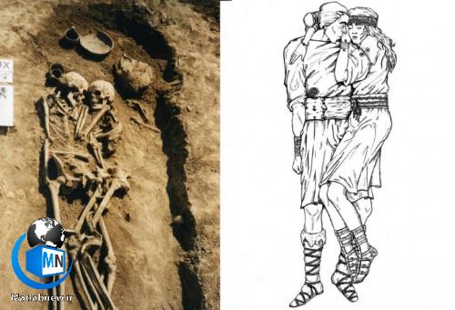آغوش سه هزار ساله یک زن و مرد
