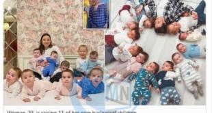 زن روسی ۲۳ساله و شوهر میلیونرش با اجاره کردن همزمان ۱۰ رحم، صاحب ۱۰ کودک در ۱۰ ماه شدند!