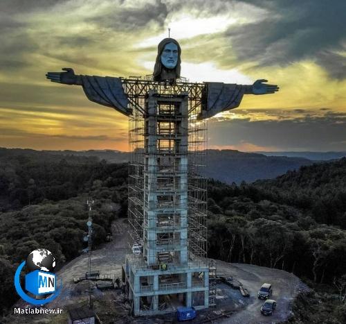 ساخت سومین مجسمه بزرگ مسیح در جهان در کشور برزیل + عکس