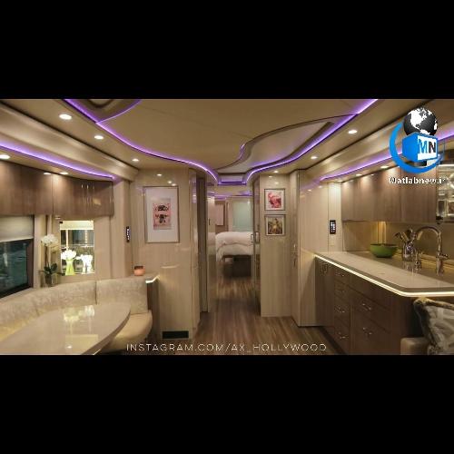 عکس/ اتوبوس لوکس یک میلیون دلاری (جاستین بیبر) خواننده مشهور