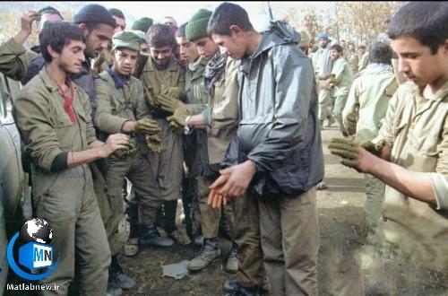 مراسم حنابندان نیروهای لشگر ٢٧ محمد رسول الله قبل از عملیات والفجر ۲