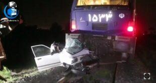 شب گذشته برخورد قطار مسافری با یک خودرو سواری در شهرری حادثه آفرید در ادامه با جزئیات این خبر با ما همراه باشید