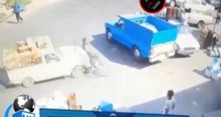 فیلمی از یک تصادف وحشتناک بر اثر ترمز بریدن یک وانت پیکان و برخورد شدید به یک موتور سوار در فضای مجازی منتشر شد