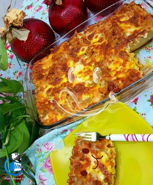 دستور پخت (لازانیا رولی) خانگی و خوش طعم و لذیذ + نکات مهم آشپزی