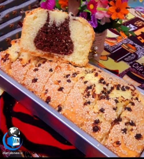 طرز تهیه (کیک عصرانه دورنگ) اسفنجی و خوشمزه +نکات مهم کیک پزی