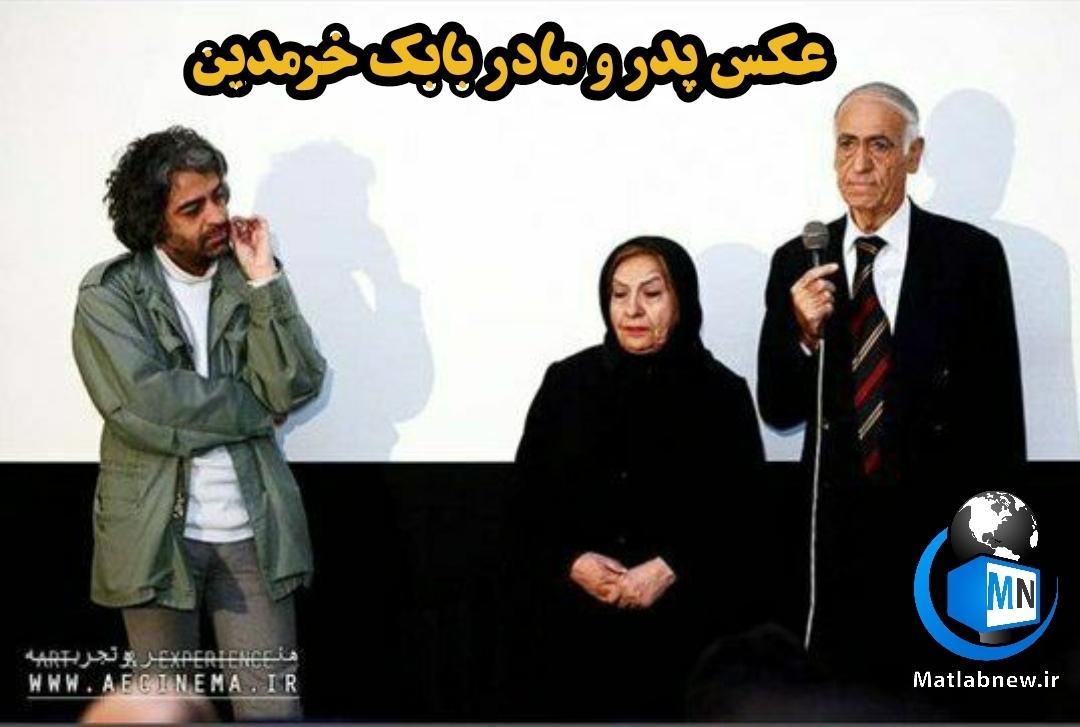 عکس/ تشکر بابک خرمدین از پدر و مادرش بر روی صحنه + صحبت های پدر بابک خرمدین