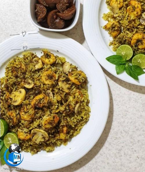 دستور پخت ( پلو میگو جنوبی ) خوشمزه و معطر + نکات مهم آشپزی