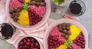 دستور پخت (آلبالو پلو با کوفته قلقلی) سنتی و خوشمزه + نکات مهم آشپزی