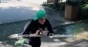 فیلم ورزش کردن بهنوش طباطبایی و تمرینات او بر روی پله های یک پارک در فضای مجازی منتشر شد
