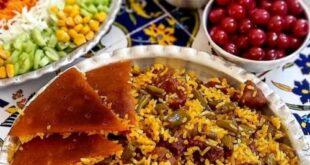 دستور پخت (لوبیا پلو) سنتی خوشمزه و دلپذیر + نکات مهم و ویژه آشپزی