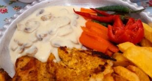 دستور پخت (استیک مرغ) به همراه سس قارچ مخصوص بسیار لذیذ + نکات مهم آشپزی