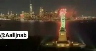 با اعلام رسمی شهرداری نیویورک دوران کرونا در این شهر به پایان رسید و آتش بازی در آسمان این شهر به مناسبت پایان بیماری کرونا انجام شد