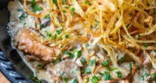 دستور پخت (چیکن استراگانف) خانگی خوش طعم و لذیذ + نکات مهم آشپزی