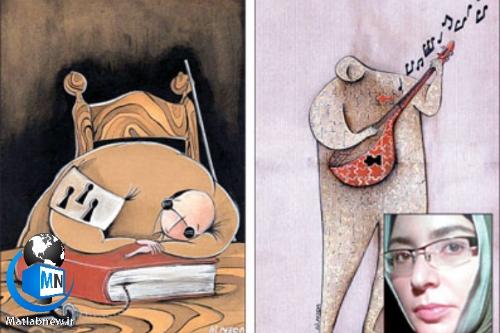 بیوگرافی «ندا تنهایی مقدم» کاریکاتوریست،نویسنده و کارگردان انیمیشن + زندگی شخصی و سوابق کاری