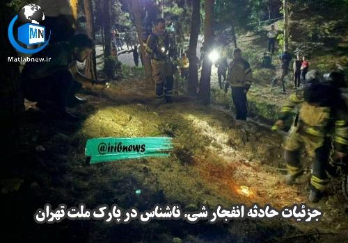 فیلم/ اولین تصاویر از انفجار شی ناشناس در پارک ملت تهران + علت انفجار پارک ملت