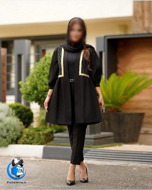 مدل مانتوهای مشکی زنانه برای محرم ۱۴۰۰ + تیپ لباس مشکی زنانه محرمی