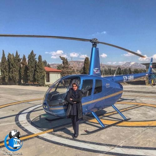 بیوگرافی «سمیرا شبانی» اولین زن خلبان هلیکوپتر ایرانی و همسرش + خلبانی و سوابق پرواز