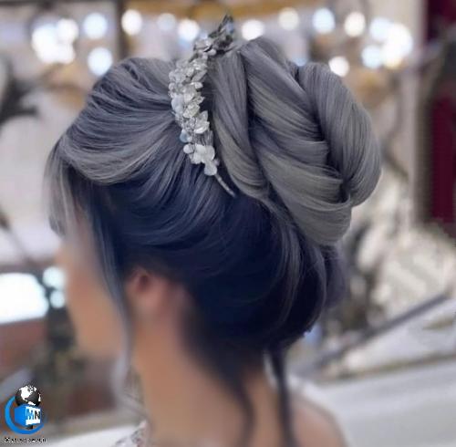 جدیدترین مدل های شینیون عروس تهرانی 1400