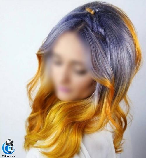 مدل های رنگ موی فانتزی برای موهای بلند دخترانه و زنانه