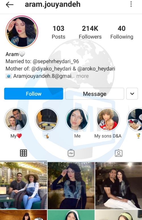 بیوگرافی «آرام جوینده» همسر سپهر حیدری + آدرس اینستاگرام و زندگی خصوصی